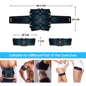 Abdominal Muscle Stimulator Intelligent Trainer EMS 6Pack Total Abs Fitness Equipment Gear Muscles at Home USB Charged Gym