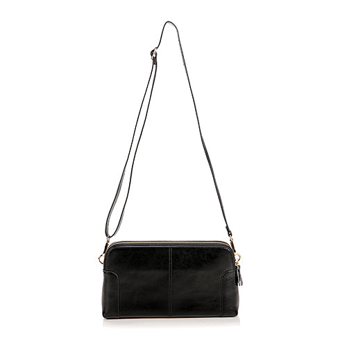 Oil wax cowhide split Leather Women Shoulder Cross Body Bag