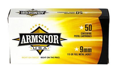 ARMSCOR 9MM 115GR FMJ 50/1000