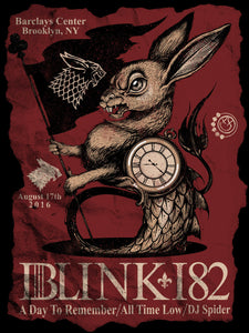"""Blink 182 - Brooklyn"" Screen Print"