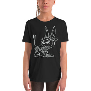 """Trick or Treat: Ghost"" Youth Short Sleeve T-Shirt"