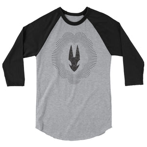"""Mask Rays"" 3/4 sleeve raglan shirt"