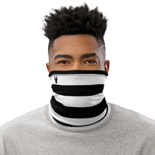 """Black & White Stripes"" Neck Gaiter"