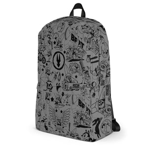 BackpackStabby All Over Backpack - GREY