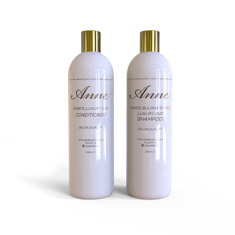 Anne's Sulphate Free Luxury Oud Shampoo & Conditioner