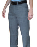 ASKPW3 Women's Flat Front Heather Grey Plate Pants