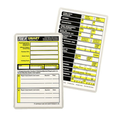 ASF76SR Rewritable Laminated Severe Weather Game Interruption Card by Refsmart