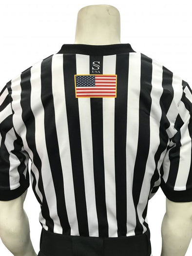 ASBI200 Smitty's IAABO Black and White Stripe Shirt
