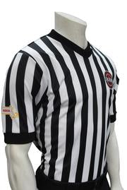 ASBI607M Smitty IAABO/MSBOA Body Flex Black and White Stripe Shirt