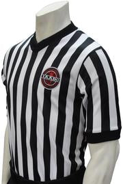 ASBI607 Smitty IAABO Body Flex Black and White Stripe Shirt