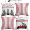 Illinois Farmhouse Burlap Christmas Pillow Cover Set