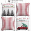 Indiana Farmhouse Burlap Christmas Pillow Cover Set