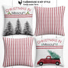 Missouri Farmhouse Burlap Christmas Pillow Cover Set