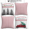 Pennsylvania Farmhouse Burlap Christmas Pillow Cover Set