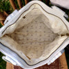 Antique Linen Farmhouse Hand Bag / Shoulder Bag / Purse