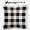 Black and White Check Farmhouse Burlap Pillow Cover