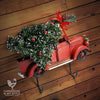 All Metal Little Red Christmas Truck Wall Hanger