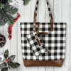 Classic Black And White Check Farmhouse Hand Bag / Shoulder Bag / Tote / Purse