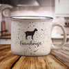Beige Goat Farm Animal Farmhouse Ceramic Mug