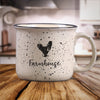 Beige Rooster / Chicken Farm Animal Farmhouse Ceramic Mug