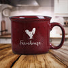 Red Rooster / Chicken Farm Animal Farmhouse Ceramic Mug