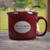 Red Fork / Cutlery Ceramic Farmhouse Mug