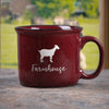 Red Goat Farm Animal Farmhouse Ceramic Mug
