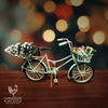 Vintage Blue Village Christmas Bike