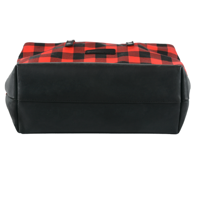 Classic Red and Black Check Farmhouse Hand Bag / Shoulder Bag / Purse