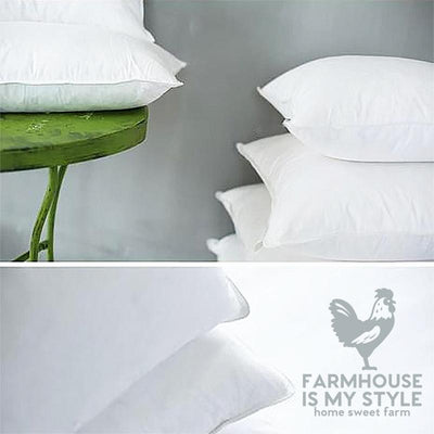 Farmhouse Luxury Goose Down and Feather Filled Pillow Insert