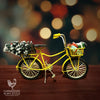 Vintage Yellow Village Christmas Bike