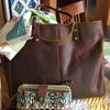Modern Farmhouse Leather Tote Bag / Purse