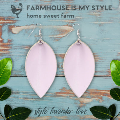 Classic Farmhouse pu Leather Leaf Earrings