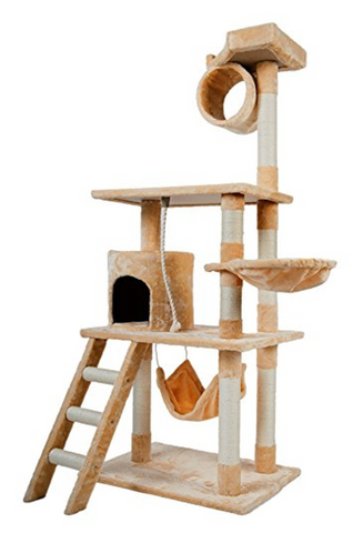 multi functional cat tree tower with scratching posts and hammock by merax    96 50 top 35 best cat tree products of 2017   purrsy review  u2014 purrsy  rh   purrsy