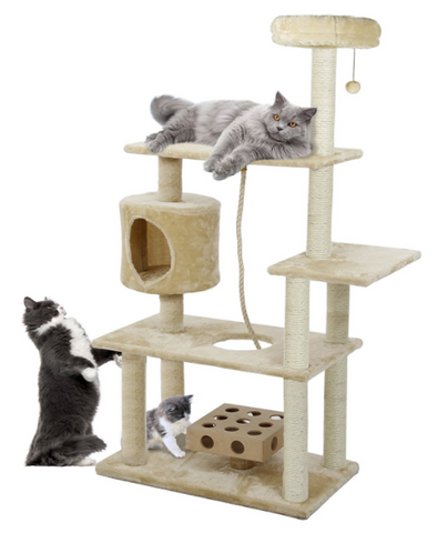 This Furhaven Tiger Tough Cat Tree House Weighs Thirty Eight Which Means It Is Will Be Perfect As Cat Trees For Large Cats It Has Many Levels