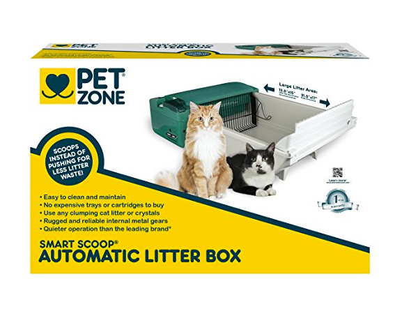 Green Automatic Cat Litter Box by Pet Zone - Self-Cleaning