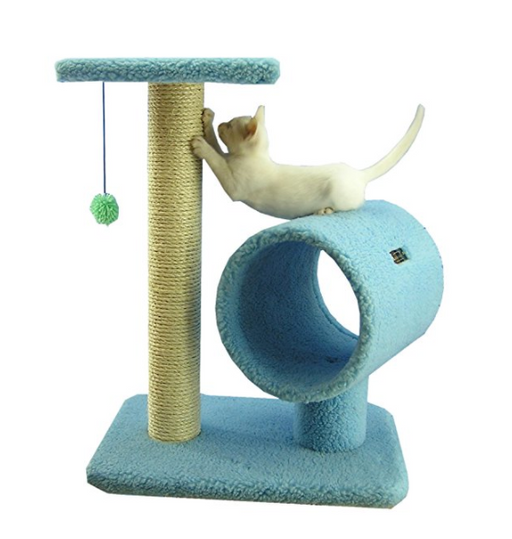 Small Cat Tree With Cat Scratcher By Armarkat   Baby Blue