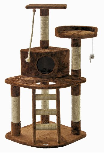 5 Story Cat Condo by Go Pet Club - Brown and Beige