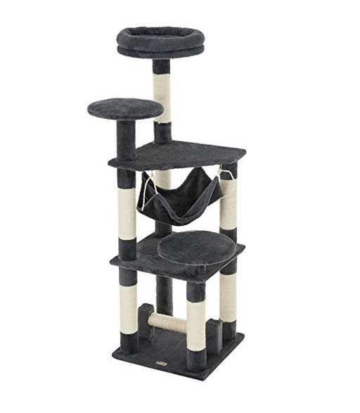5 Story Cat Tree Tower by Ollieroo - Dark Gray