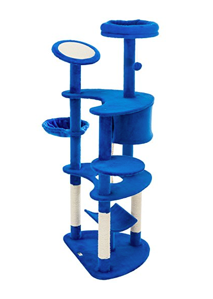 8 Story Cat Tree Tower by Ollieroo - Bright Blue