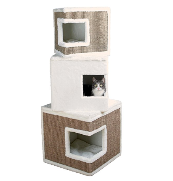 ... 3 Story Premium Cat Tree Condo Tower By Trixie Pet Products