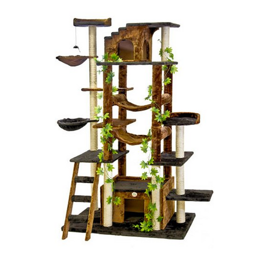 8 Story Premium Cat Mansion by Go Pet Club - Hammocks, Scratching Posts