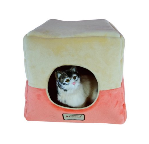 Comfy Covered Cat Bed by Armarkat - Soft Velvet - Assorted Colors