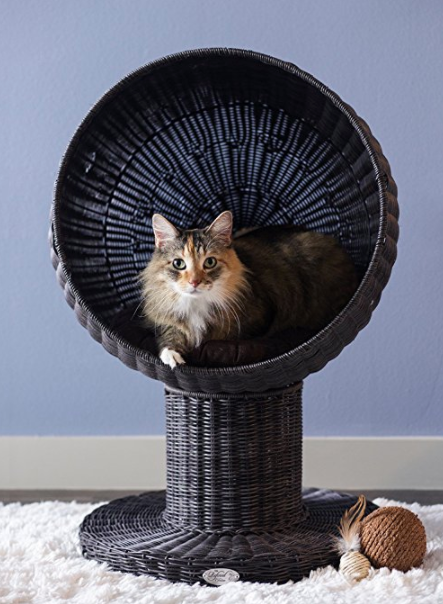 Rattan Cat Bed and Lounge by The Refined Feline