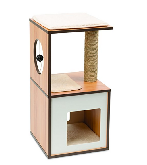 Luxury Cat Condo with Scratching Post by Vesper