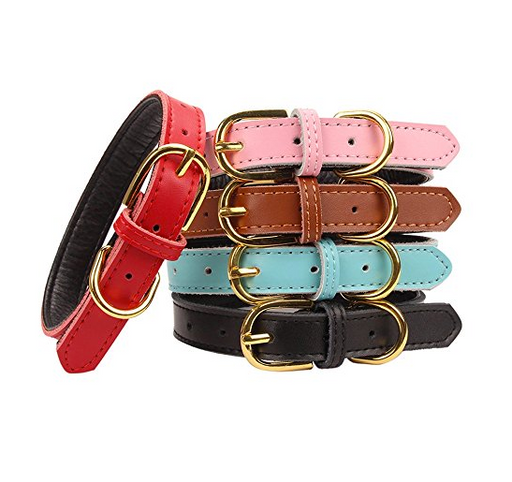 Premium Leather Cat Collar by Aolove - Assorted Colors