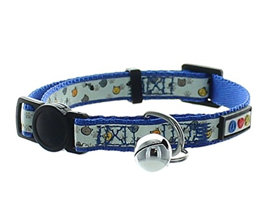 Glow in the Dark Cat Collar with Bell by Pawtitas - Assorted Colors