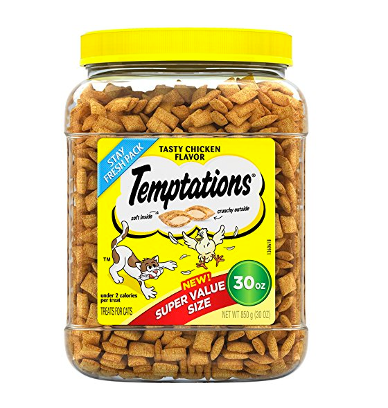 30oz Tub of Cat Treats by Temptations - Chicken Flavor