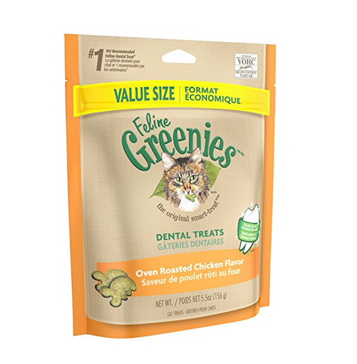 Oven Roasted Dental Cat Treats by Greenies - Chicken Flavor