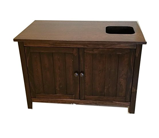 Top Entry Litter Box Cabinet By Furever Pet Furniture   Espresso Wood ...